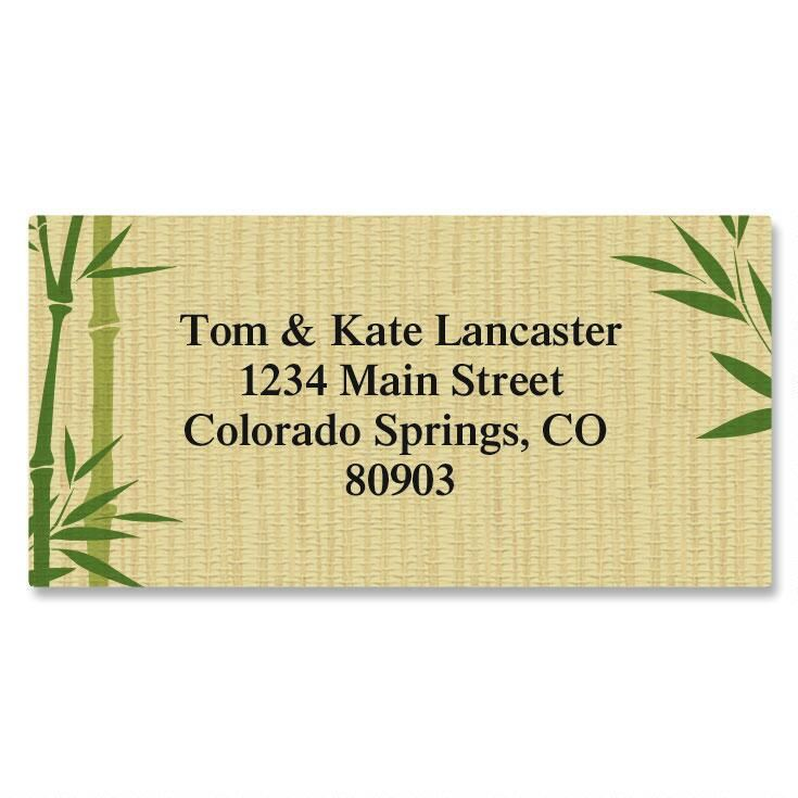 Harmonious Border Return Address Labels