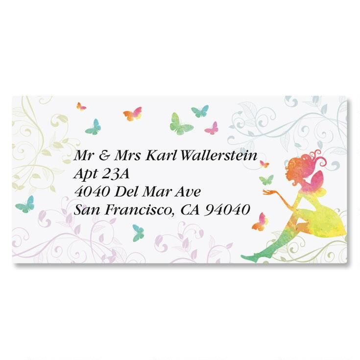Fairy Border Return Address Labels