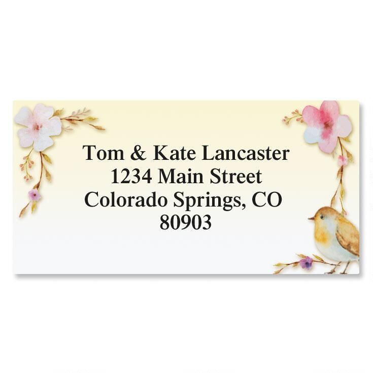 Pondering Bird Border Return Address Labels