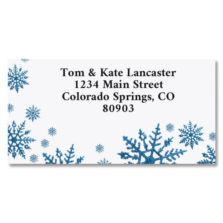 Snowflake Border Return Address Labels