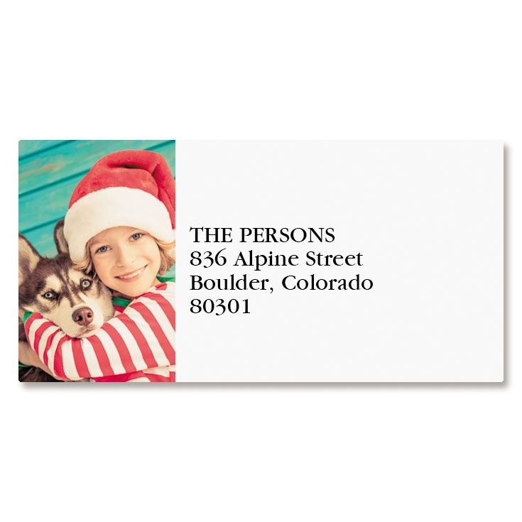 Direct Border Photo Return Address Label