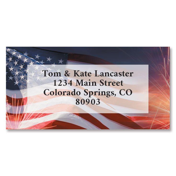 American Celebration Border Return Address Labels