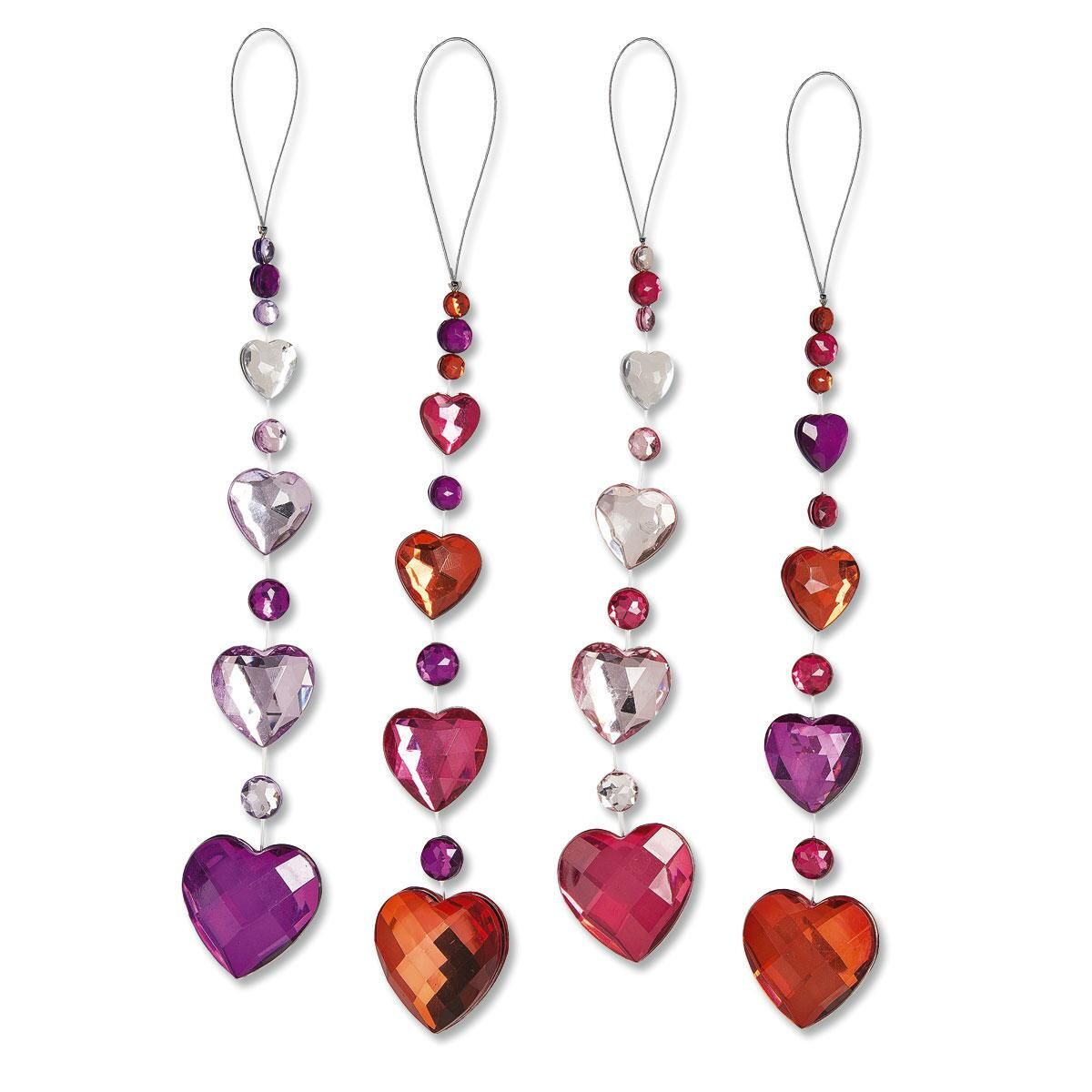 Cascading Hearts Ornament