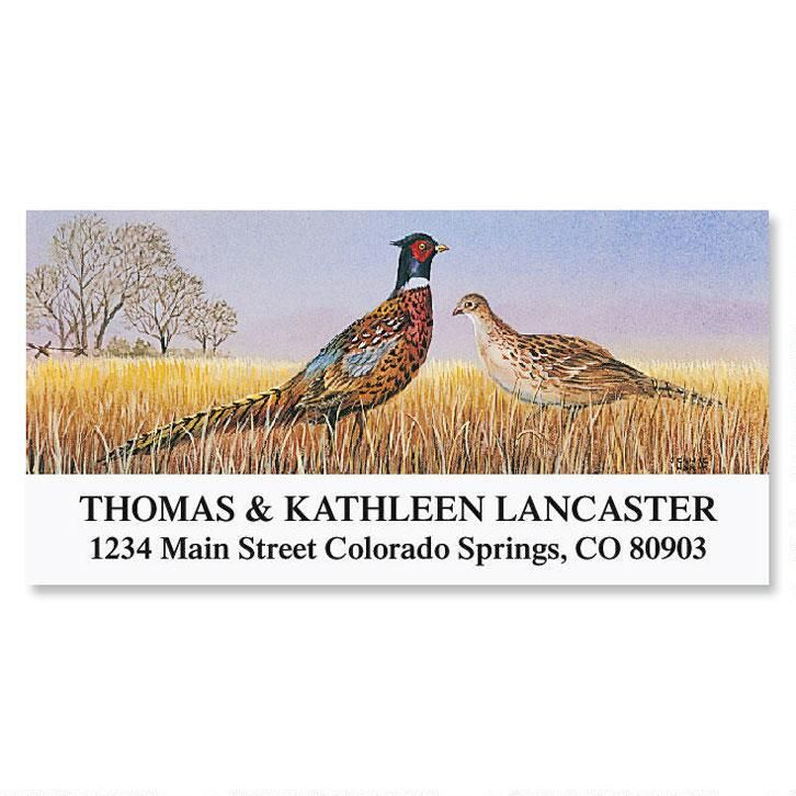 Pheasants  Deluxe Address Labels