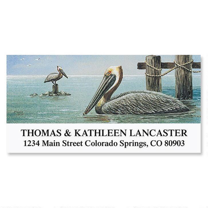 Pelicans  Deluxe Return Address Label