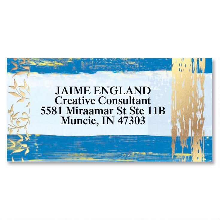 Impression  Foil Border Address Labels
