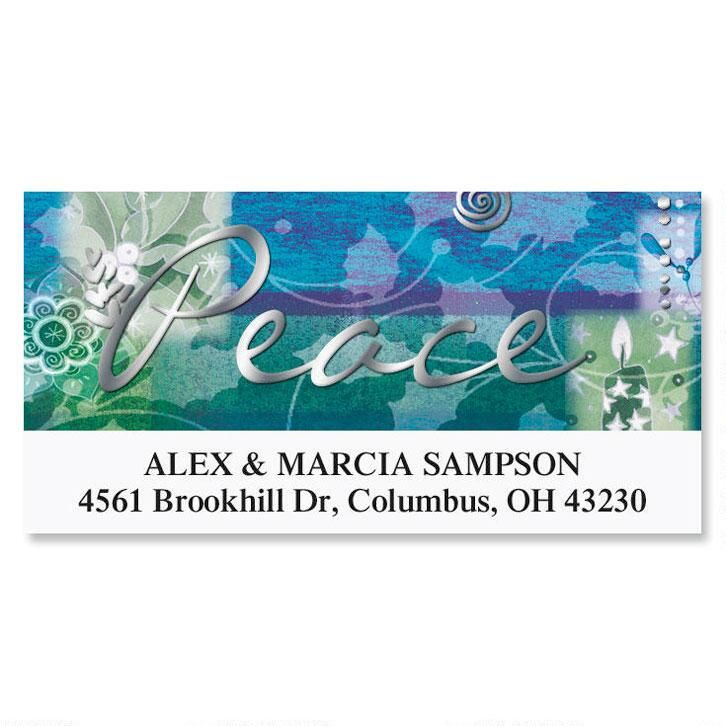 Peace Collage  Foil Deluxe Address Labels