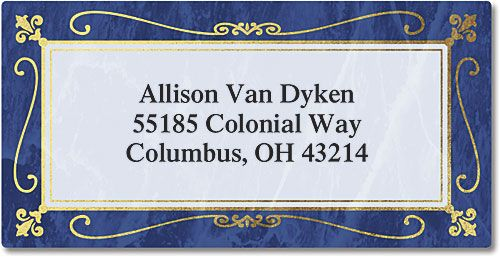 Imperial  Foil Border Address Labels