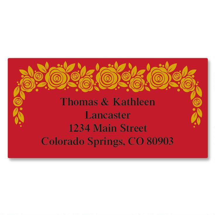 Rose Gold Foil Border Address Labels