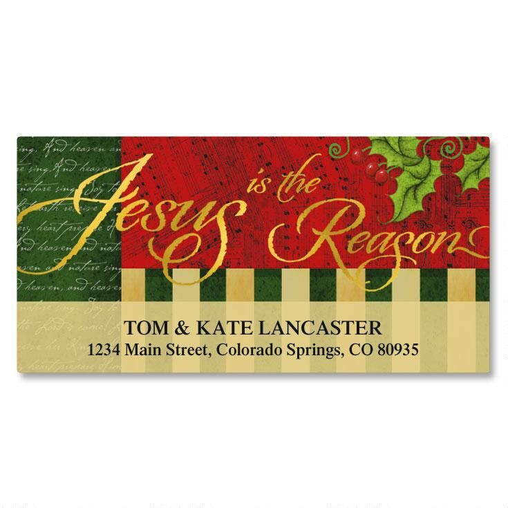Joyful Season Foil Deluxe Return Address Labels