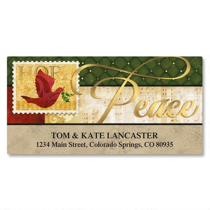 Peaceful Petals Foil Deluxe Address Labels