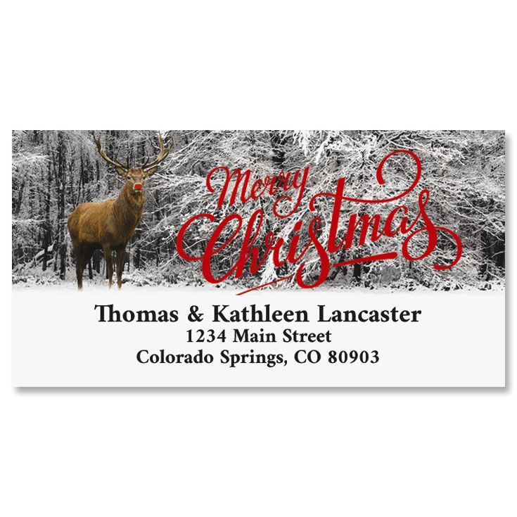 The Famous Reindeer Foil Deluxe Address Labels