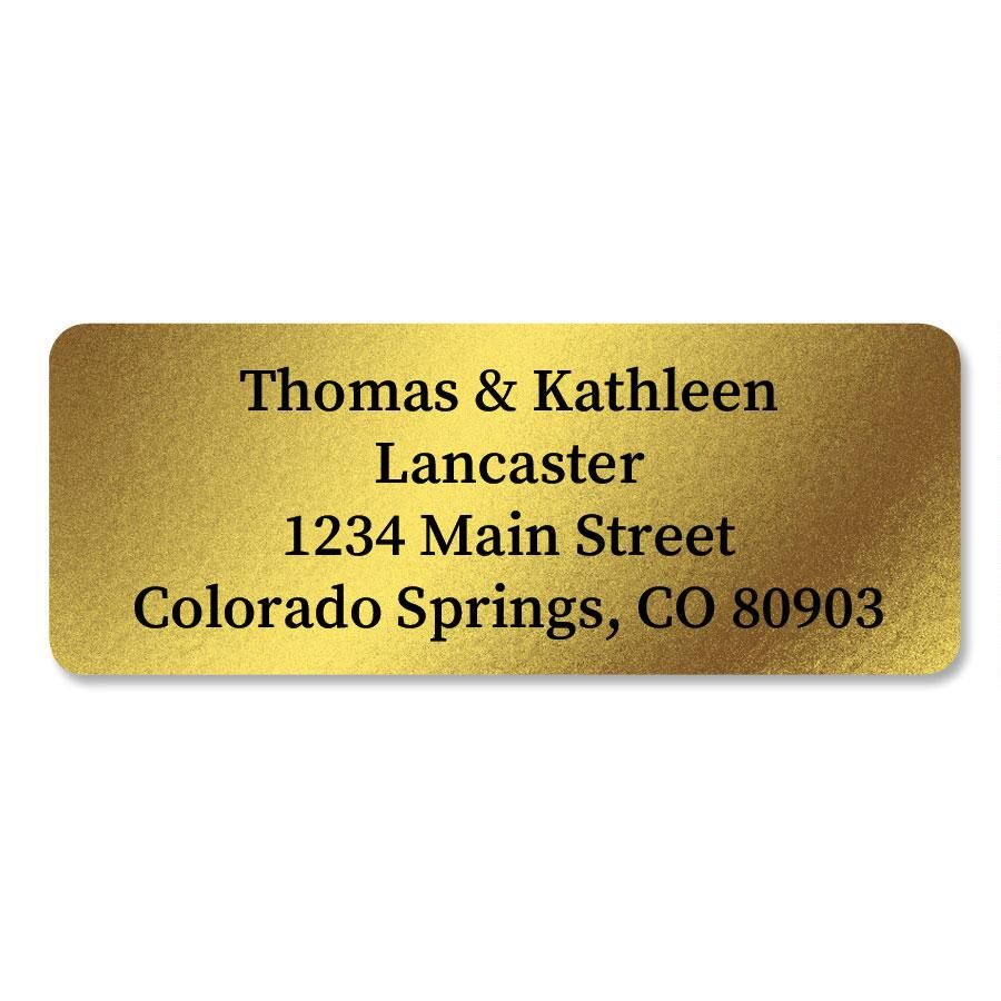 Gold Foil Return Address Labels
