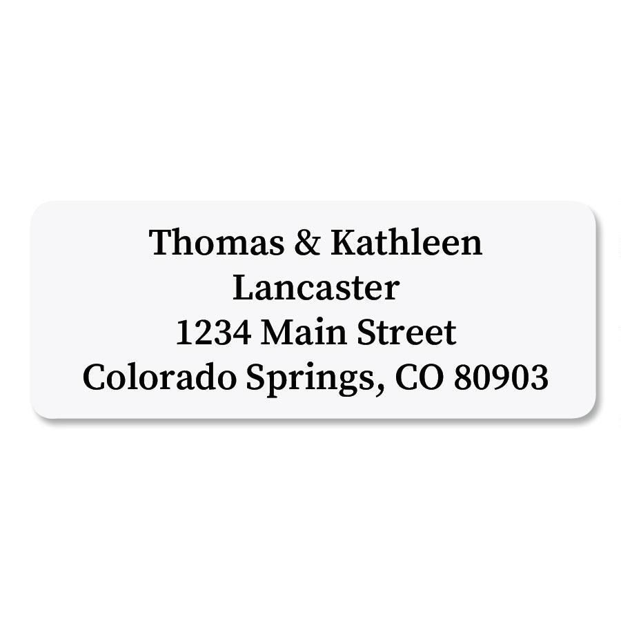 White Rectangle  Premier Address Labels