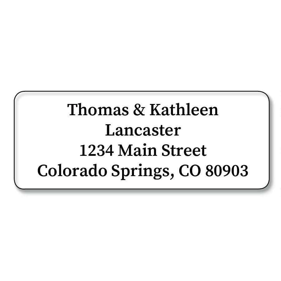 Opaque Rectangle  Premier Return Address Labels