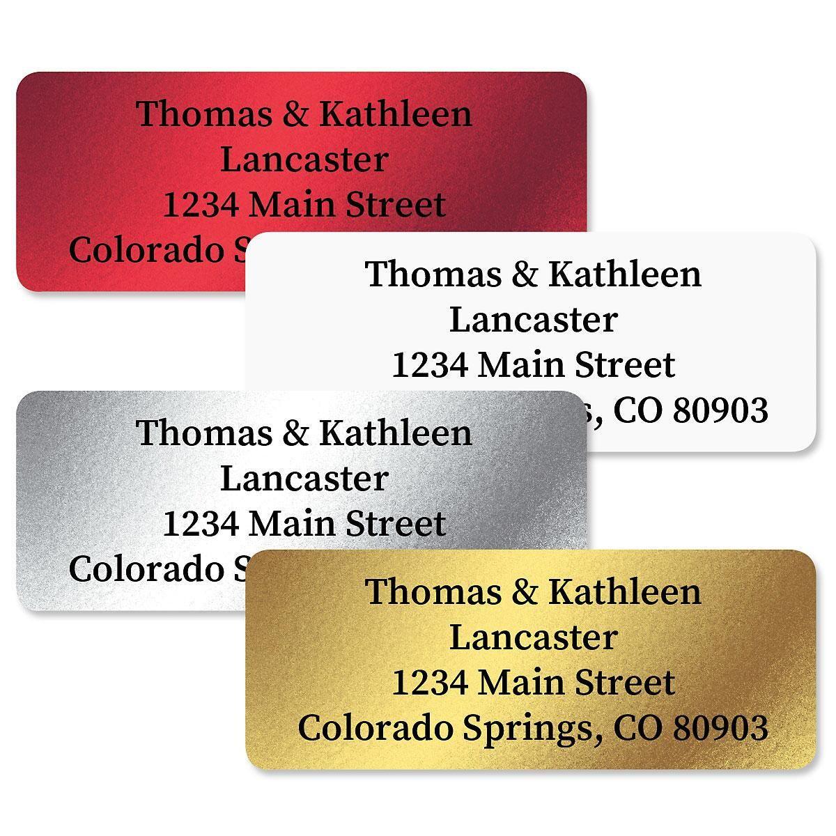 Rectangular Foil Address Labels  (4 Colors)