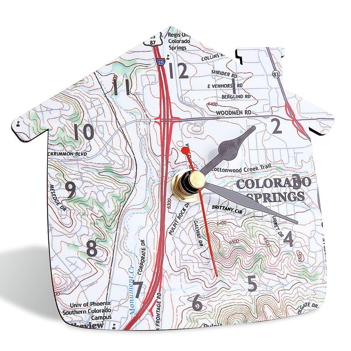 Custom Map Desk Clock