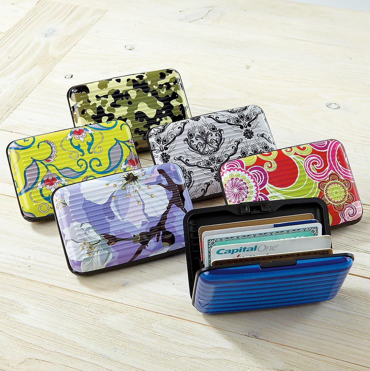 Designer Fashion ScanSafe Aluminum Alloy Wallet