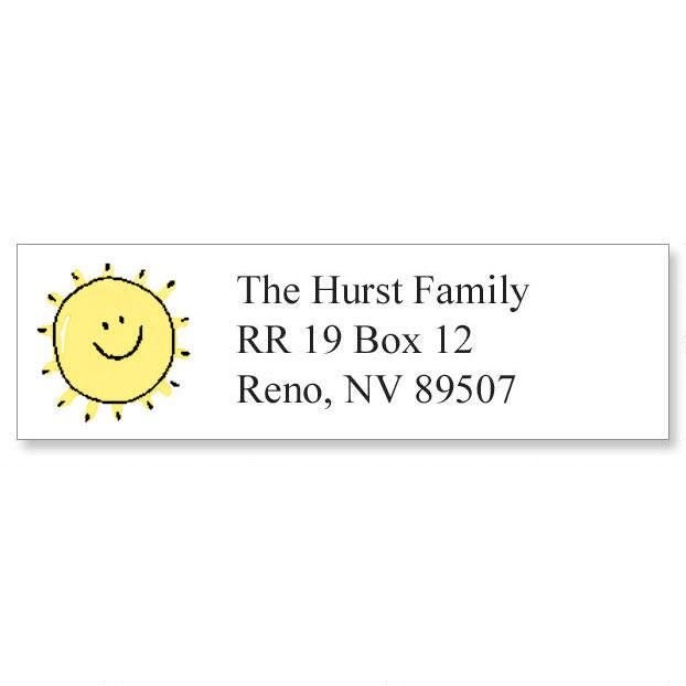 Sunshine Smile Classic Return Address Labels