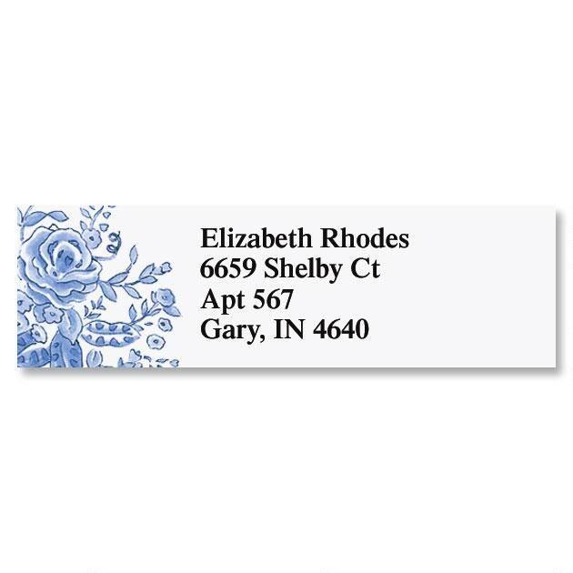 Blue Bouquet Classic Return Address Labels