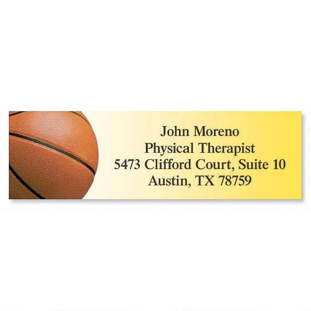 Basketball Classic Return Address Labels