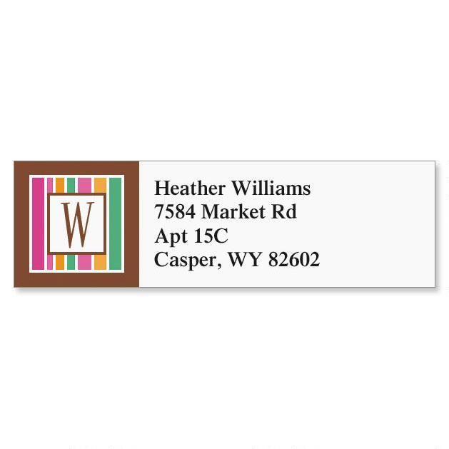 Chocolate & Sherbet Classic Address Labels