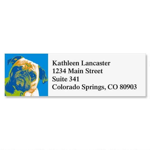 Pop Art Puppies Classic Address Labels