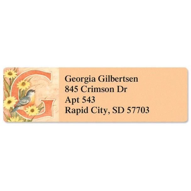 Spring Alpha Initial   Classic Address Labels