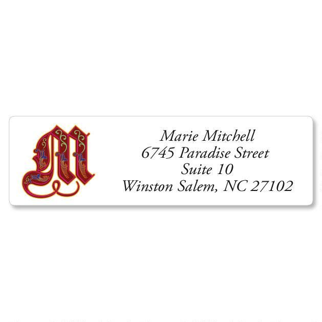 Royal Monogram Classic Return Address Labels