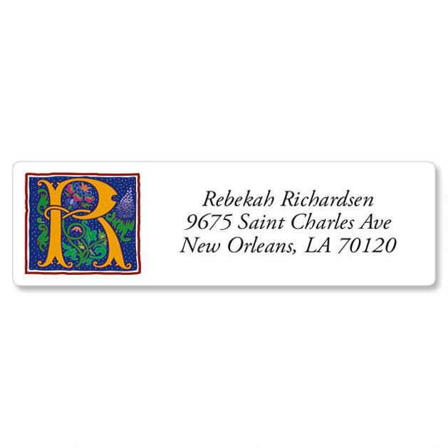 Romant Monogram Classic Return Address Labels