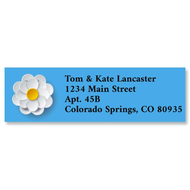 Sweet Daisy Classic Return Address Labels