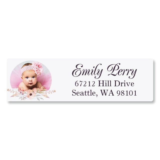 Floral Classic Photo Return Address Label