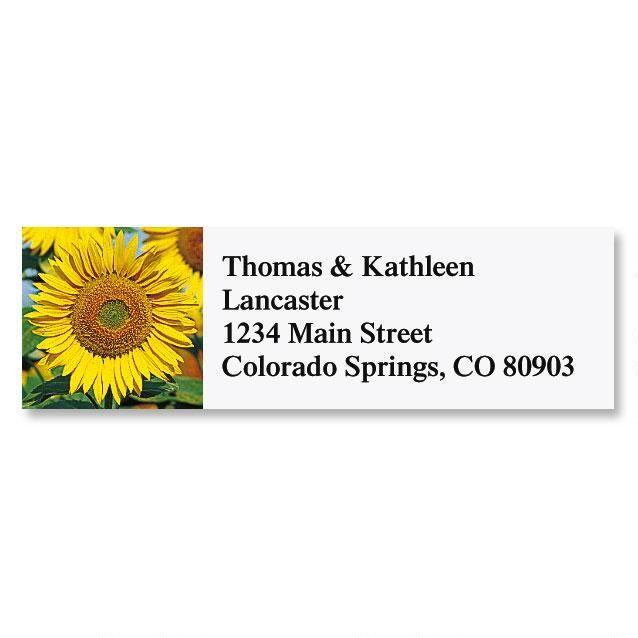 Sunflower  Classic Return Address Labels