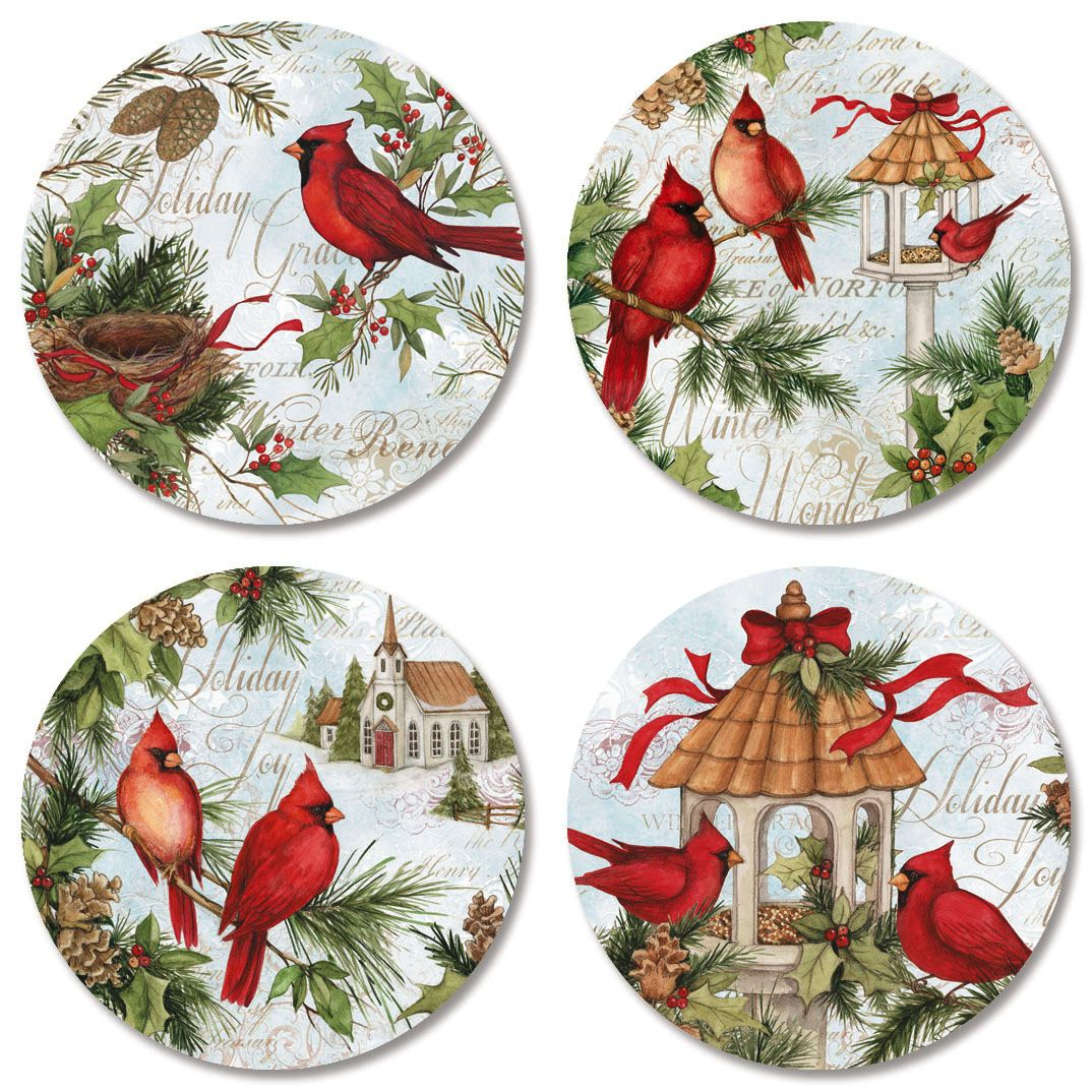 Cardinal Nest Envelope Seals (4 Designs)