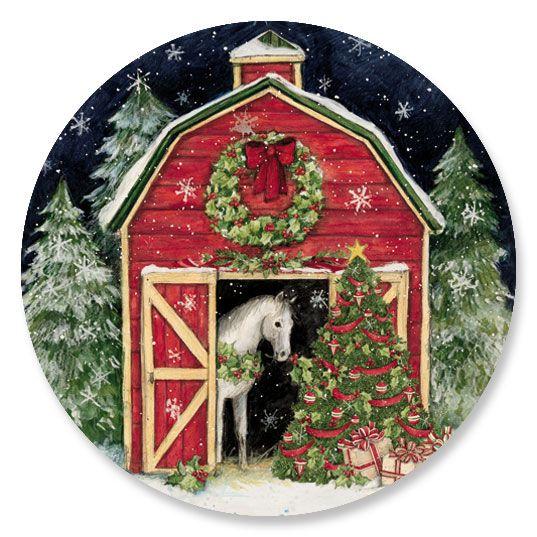 Christmas Horses Decorative Envelope Seals