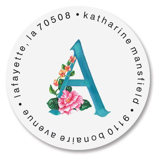 Tropical Initial Round Return Address Labels