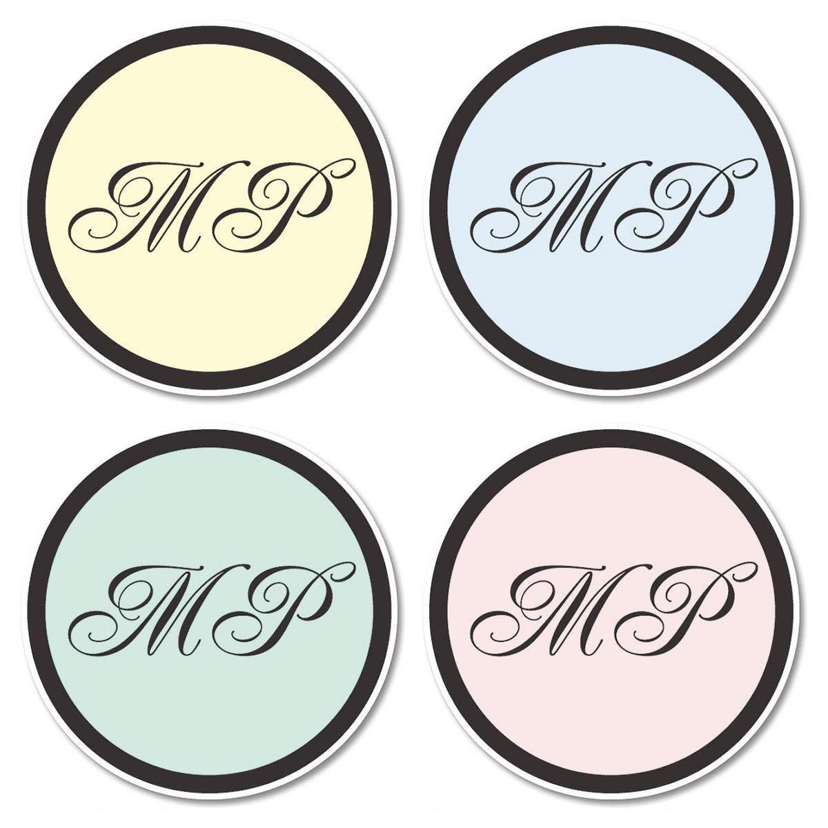 Initials Envelope Seals  (4 Colors)
