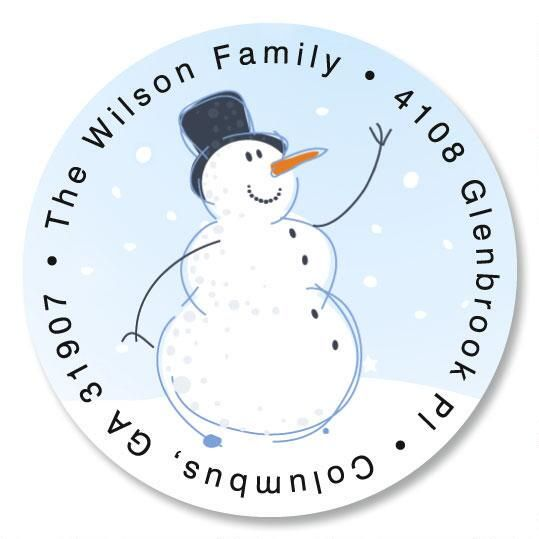 Holiday Sparkle Round Return Address Labels
