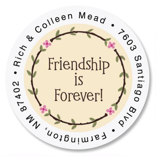 Friendship Round Address Labels