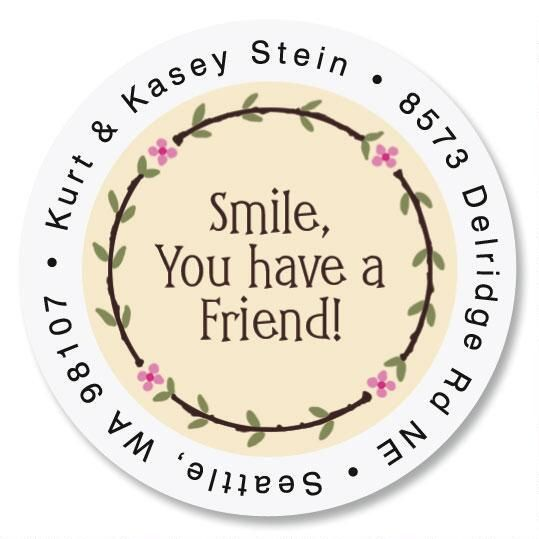 Smile Round Address Labels