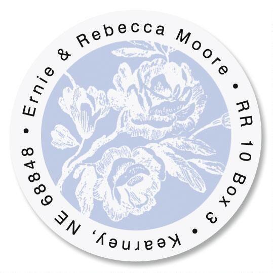 Rose Branch Round Return Address Labels