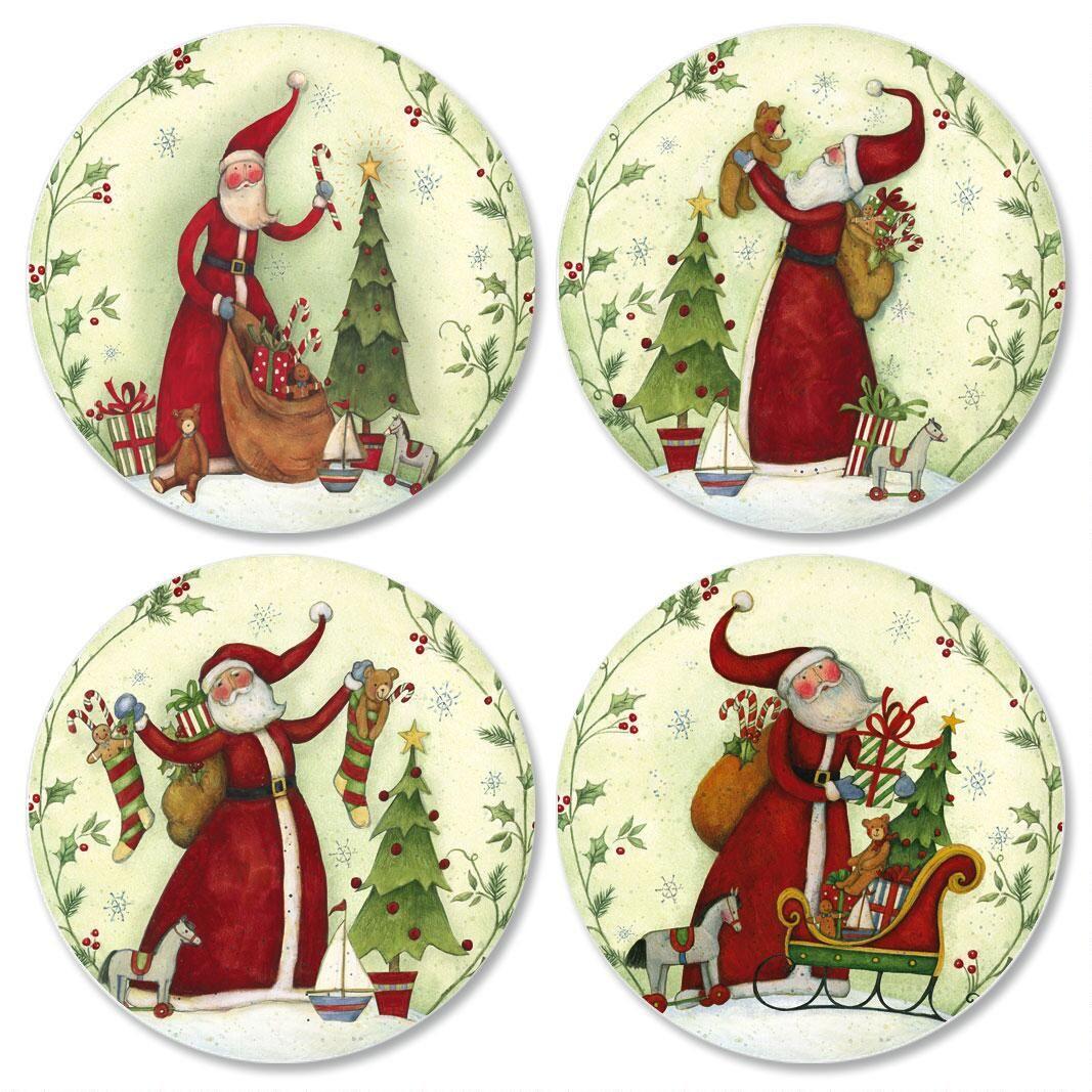 Santas Envelope Seals  (4 Designs)