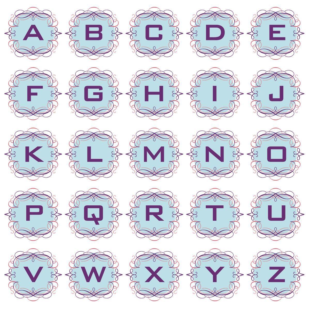 Cartouche Round Return Address Labels