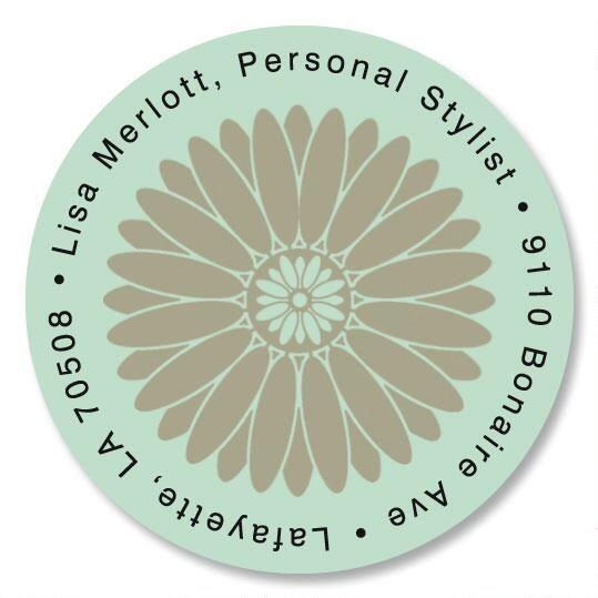 Serene Round Return Address Labels