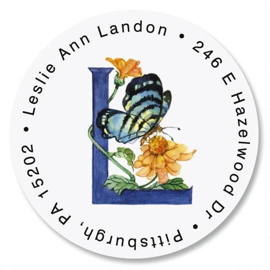 Butterfly Initial Round Return Address Labels