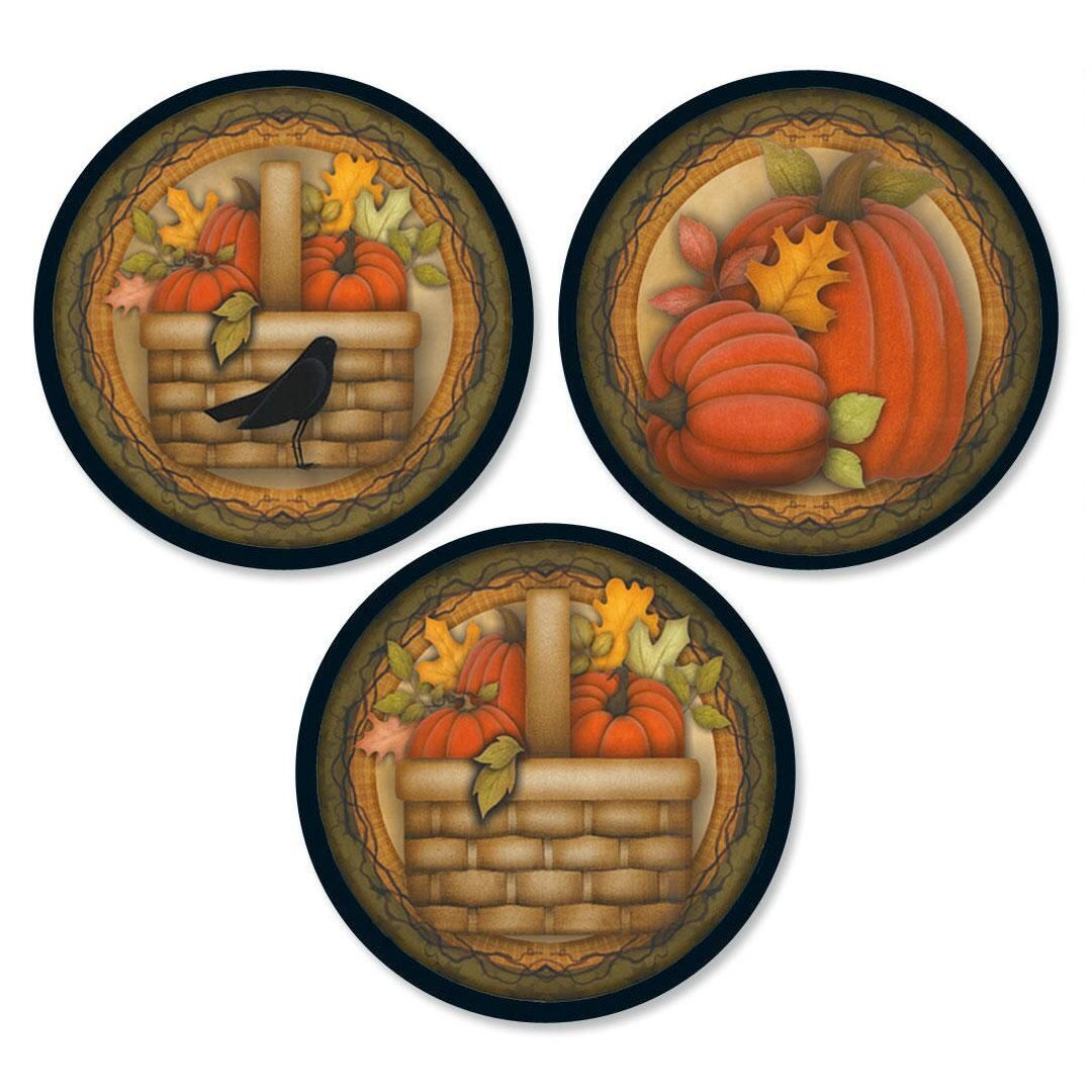 Pumpkin Envelope Seals  (3 Designs)