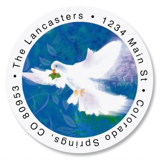 Flight of the Dove Round Address Labels