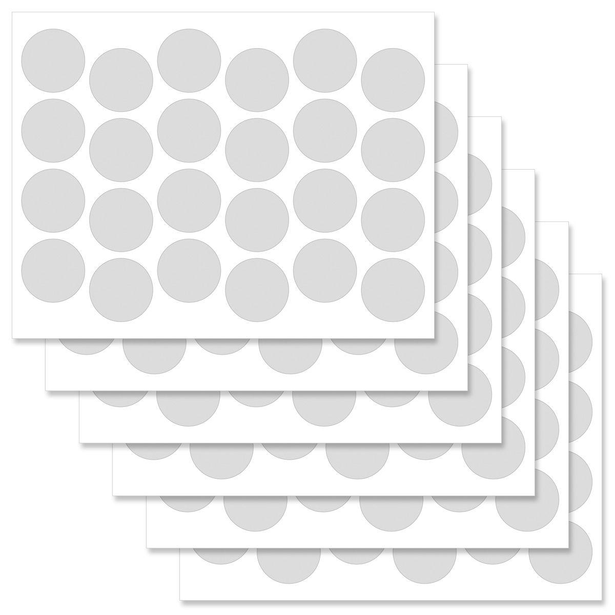 Fun Patterns Round Return Address Labels  (3 Designs)