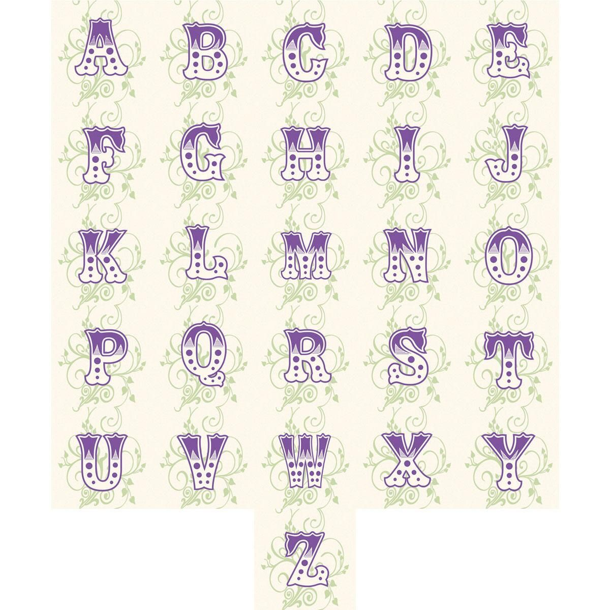 Deluxe Letters Round Address Labels