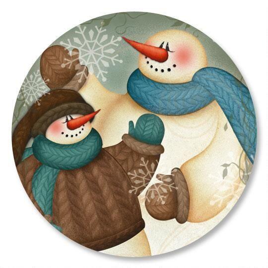 Winter Hello Envelope Seals